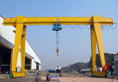 MH Series Single Girder Gantry Crane with Hoist of DJCRANES