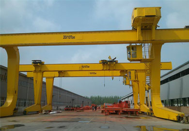 L Type Single Girder Gantry Crane with Trolley of DJCRANES